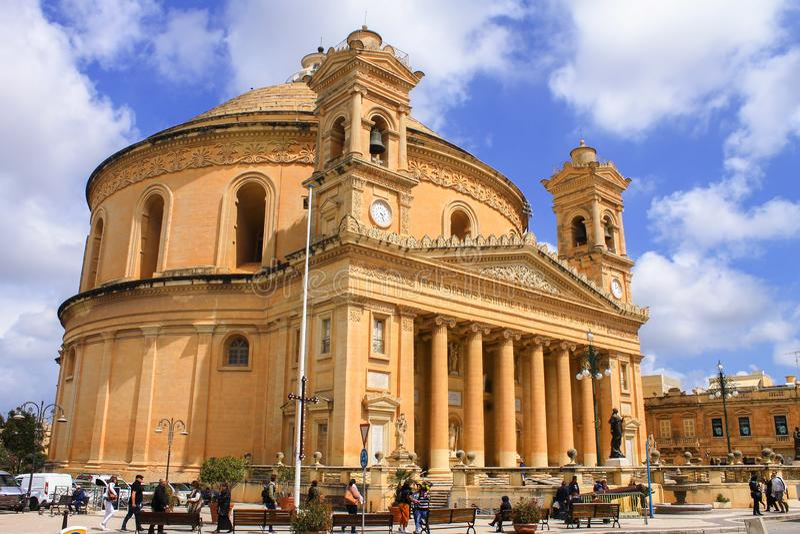 Mosta Rutonda Church in Malta royalty-vrije stock afbeelding