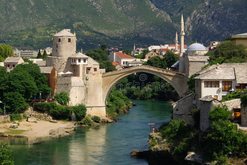 Download Mostar stock image. Image of building, landmark, islamic - 14932905