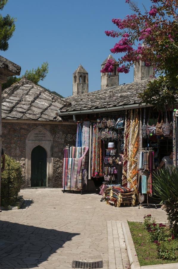 Mostar, Basar, Markt, Einkaufen, Koski Mehmed Pasha Mosque, Bosnien und Herzegowina, Europa, Islam, Religion, Ort der Verehrung stockfoto