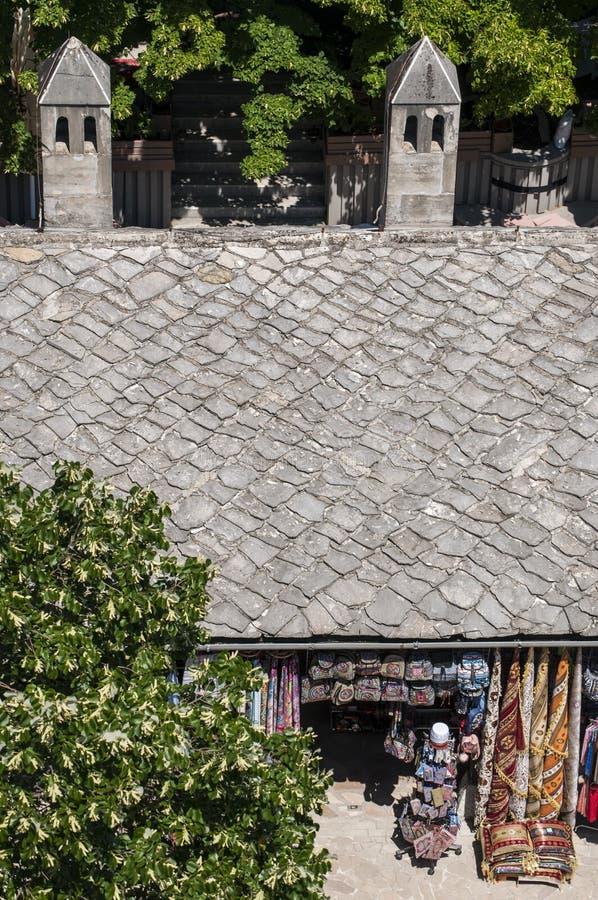 Mostar, Basar, Markt, Einkaufen, Koski Mehmed Pasha Mosque, Bosnien und Herzegowina, Europa, Islam, Religion, Ort der Verehrung lizenzfreies stockbild