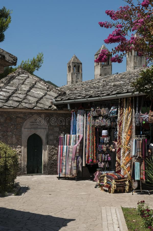 Mostar, Basar, Markt, Einkaufen, Koski Mehmed Pasha Mosque, Bosnien und Herzegowina, Europa, Islam, Religion, Ort der Verehrung stockfotos