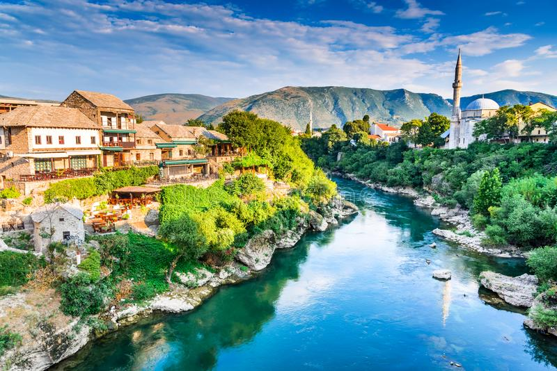 Mostar, Bosnië-Herzegovina stock afbeeldingen