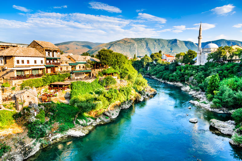 Mostar, Bosnië-Herzegovina stock afbeelding