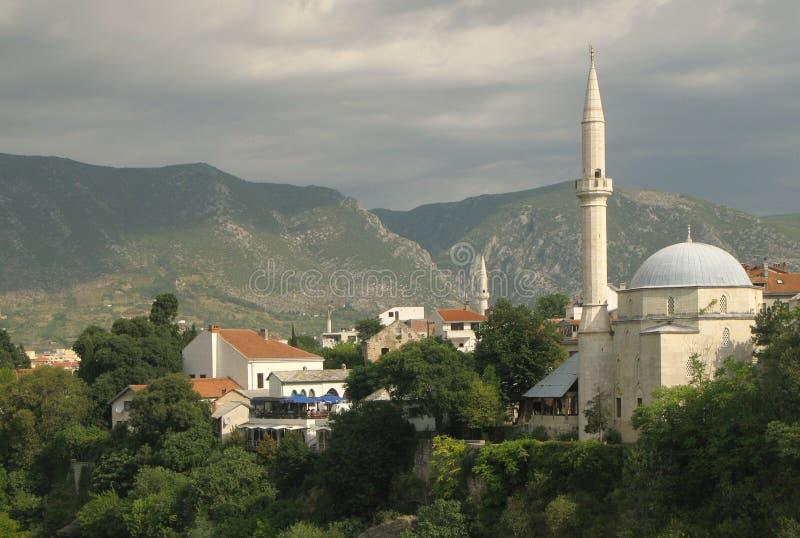 Mostar in Bosnia stock afbeeldingen