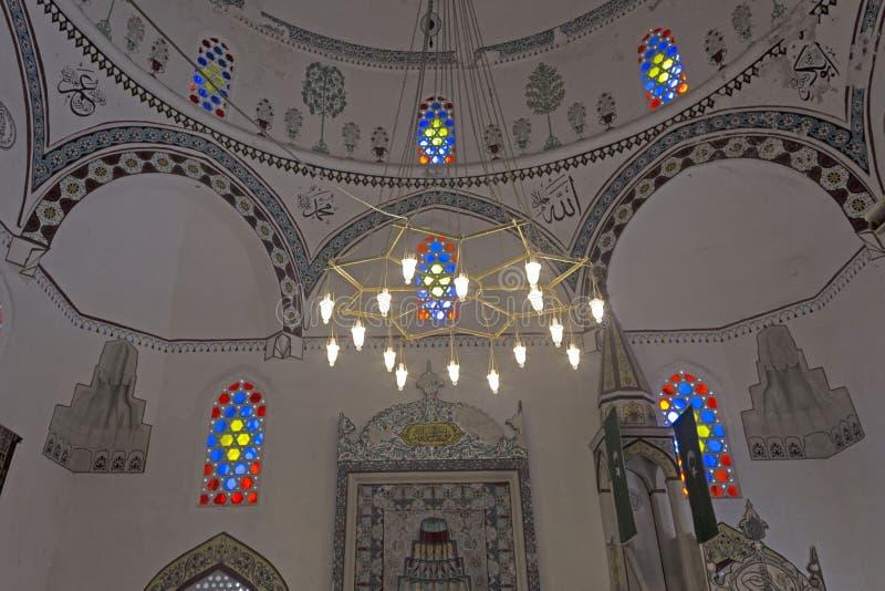 Koski mehmet mosque in mostar interiors. MOSTAR, BOSNIA HERZEGOVINA - AUGUST 17 2017: Koski mehmet mosque in mostar interiors stock image