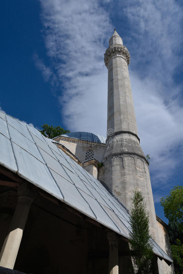 Mostar, Bosnia Herzegovina. Old mosque architecture detail royalty free stock image
