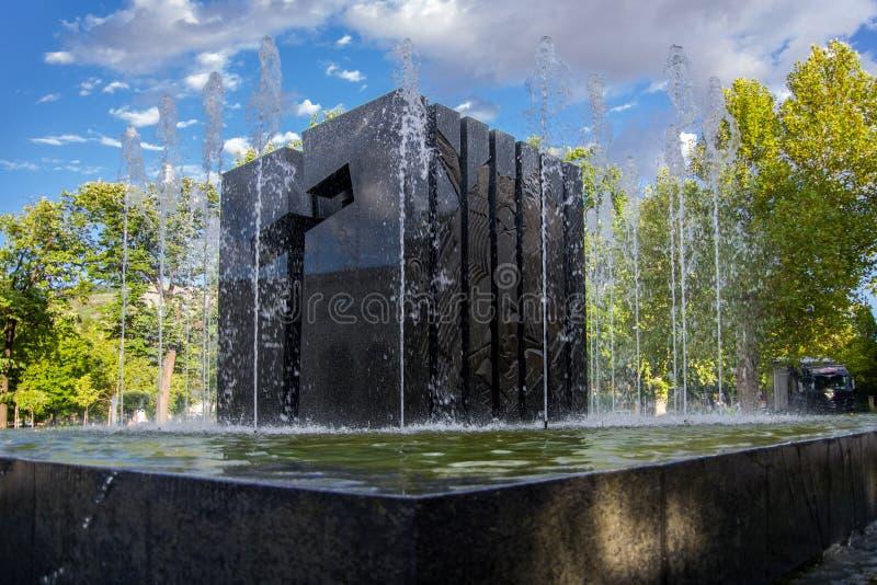 Mostar, Bosnia y Herzegovina, monumento croata caido de los defensores imágenes de archivo libres de regalías