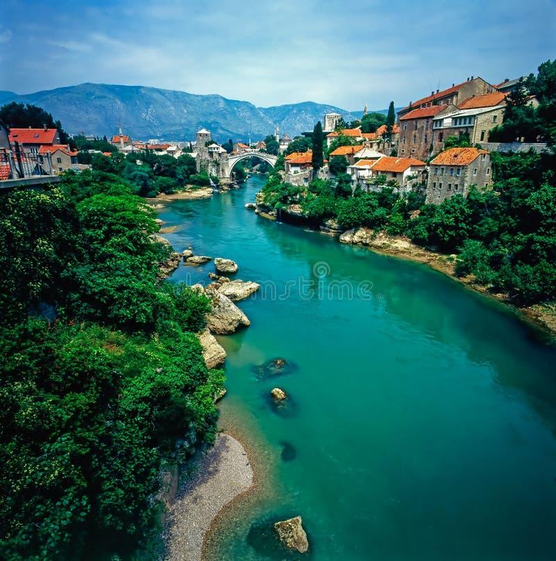 Mostar Bosnien och Hercegovina royaltyfri bild