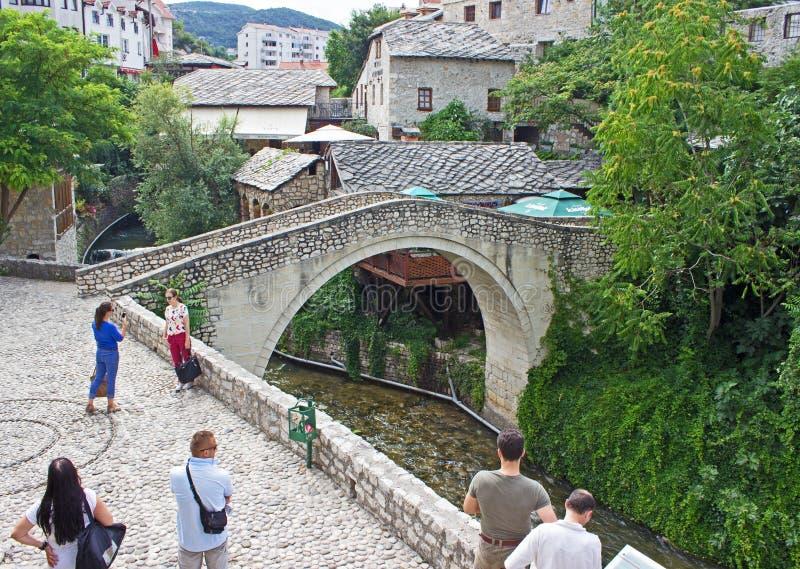 Mostar-Brücke lizenzfreie stockbilder