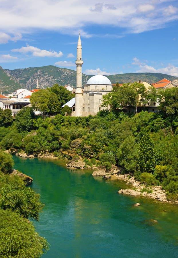 Mostar gammal stad, Bosnien och Hercegovina arkivfoton
