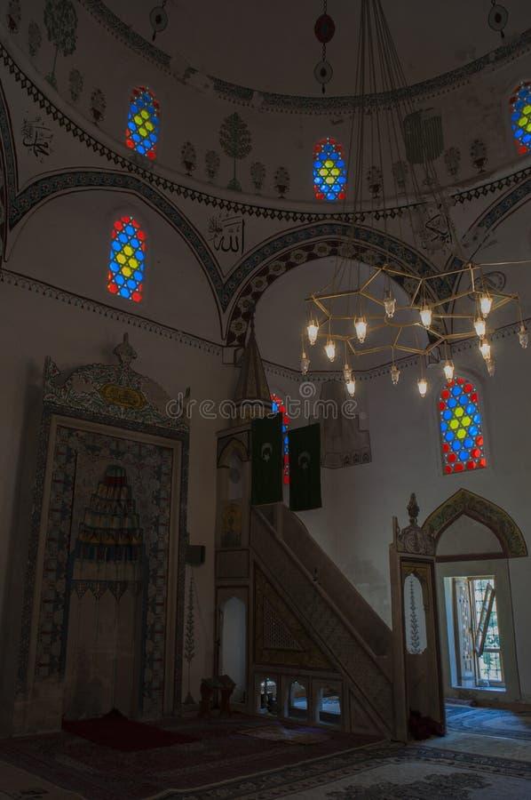 Mostar, Koski Mehmed Pasha Mosque, Innenraum, Bosnien und Herzegowina, Europa, Islam, Religion, Ort der Verehrung lizenzfreie stockfotografie