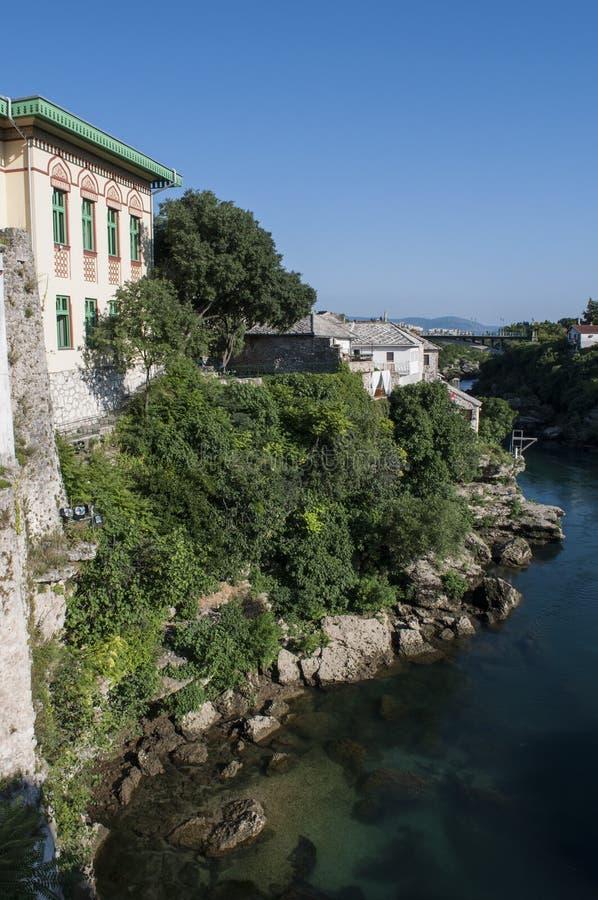 Mostar, linia horyzontu, architektura, austro-węgierski, rzeczny, Bośnia i Herzegovina, Europa zdjęcia royalty free