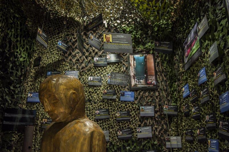 Mostar, Museum van Oorlog en Volkerenmoordslachtoffers 1992-1995, Bosnische Oorlog, oorlogsmisdaden, volkerenmoord, misdaden tege royalty-vrije stock fotografie