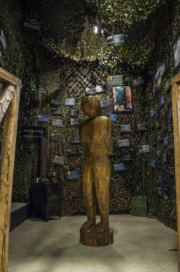 Mostar, Museum van Oorlog en Volkerenmoordslachtoffers 1992-1995, Bosnische Oorlog, oorlogsmisdaden, volkerenmoord, misdaden tege royalty-vrije stock foto's