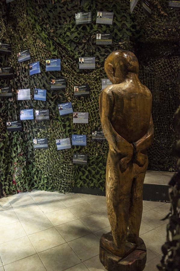 Mostar, Museum van Oorlog en Volkerenmoordslachtoffers 1992-1995, Bosnische Oorlog, oorlogsmisdaden, volkerenmoord, misdaden tege royalty-vrije stock afbeeldingen