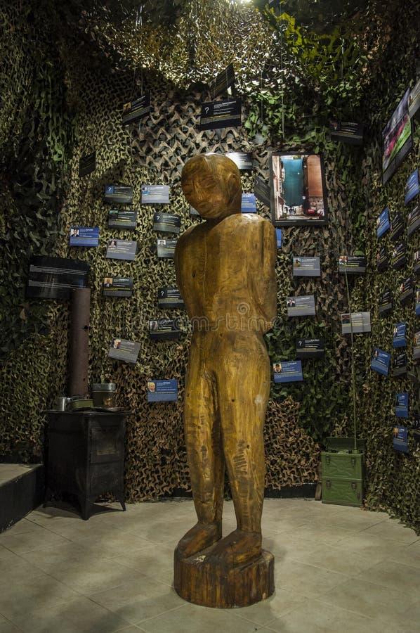 Mostar, Museum van Oorlog en Volkerenmoordslachtoffers 1992-1995, Bosnische Oorlog, oorlogsmisdaden, volkerenmoord, misdaden tege royalty-vrije stock afbeelding