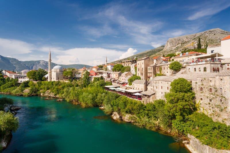 Mostar. Neretva river, Bosnia and Herzegovina. Mostar. Neretva river in Bosnia and Herzegovina royalty free stock image