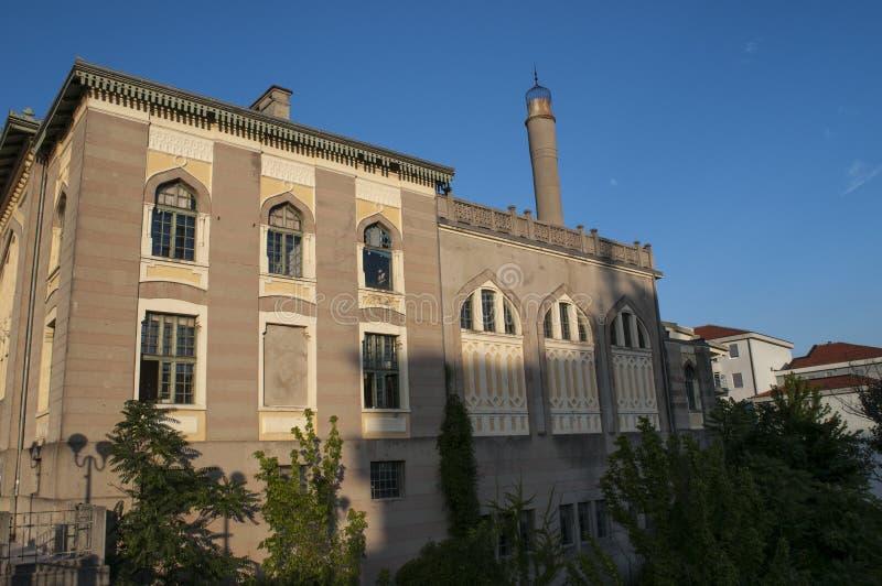 Mostar, reconstrucción, palacio, bombardeado, Bosnia y Herzegovina, Europa, ciudad, calle, arquitectura, caminando, horizonte imagen de archivo libre de regalías