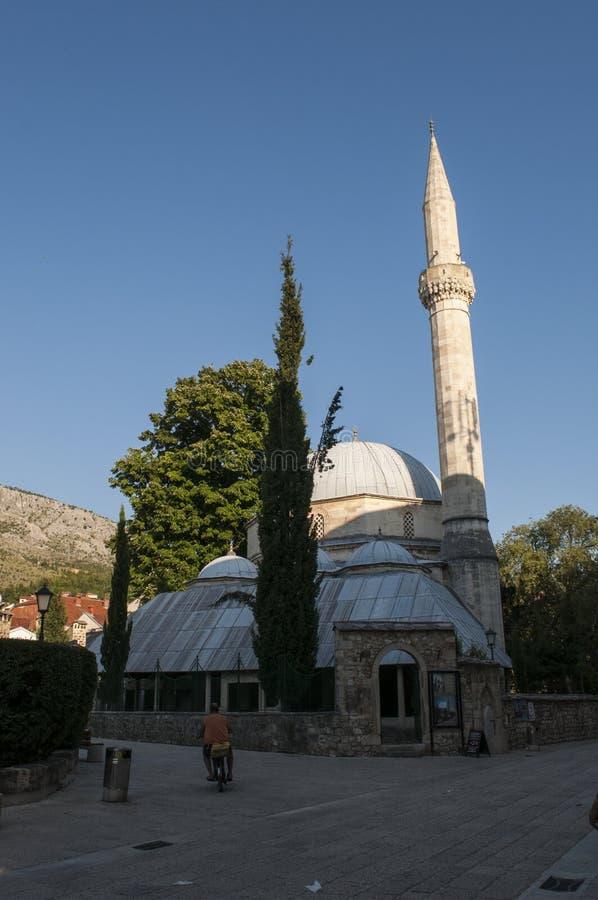 Mostar, Skyline, Moschee, Minarett, Bosnien und Herzegowina, Europa, Islam, Religion, Ort der Verehrung stockfoto