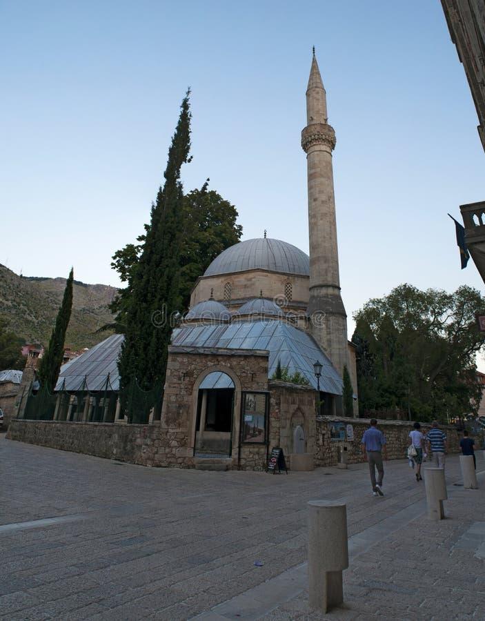 Mostar, Skyline, Moschee, Minarett, Bosnien und Herzegowina, Europa, Islam, Religion, Ort der Verehrung stockfotografie