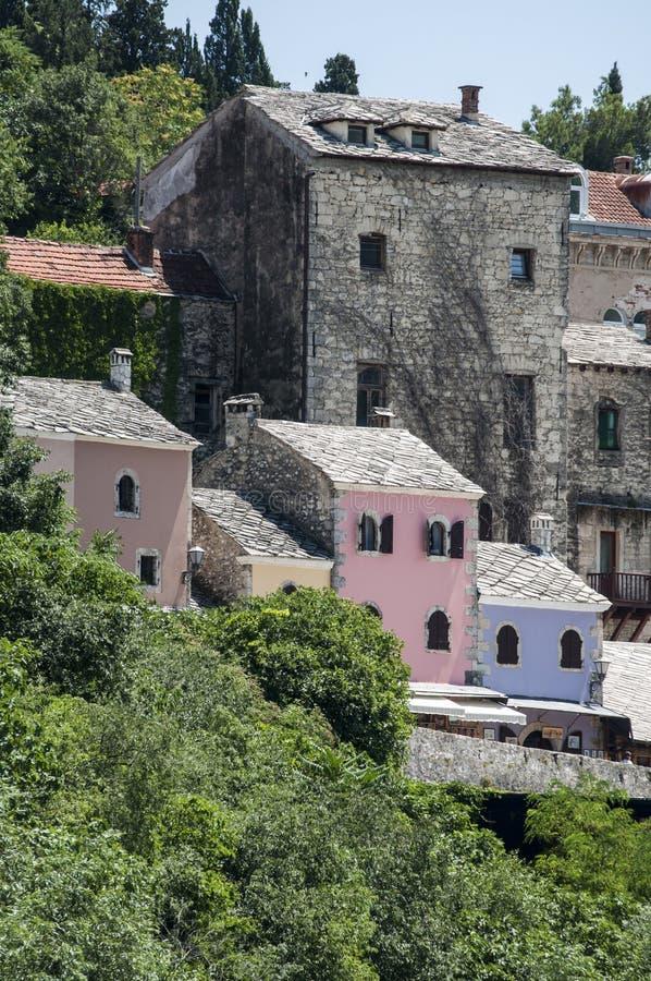 Mostar, Stari mais, ponte, Bósnia e Herzegovina velhas, Europa, cidade velha, rua, arquitetura, andando, skyline, bazar imagens de stock royalty free