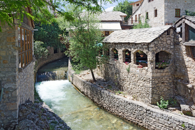 Mostar. Un angolo fotografie stock libere da diritti