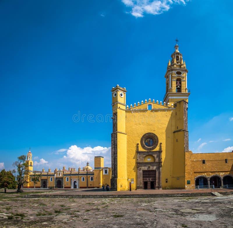 Mosteiro Convento de San Gabriel - Cholula de Gabriel Archangel de Saint, Puebla, México fotografia de stock