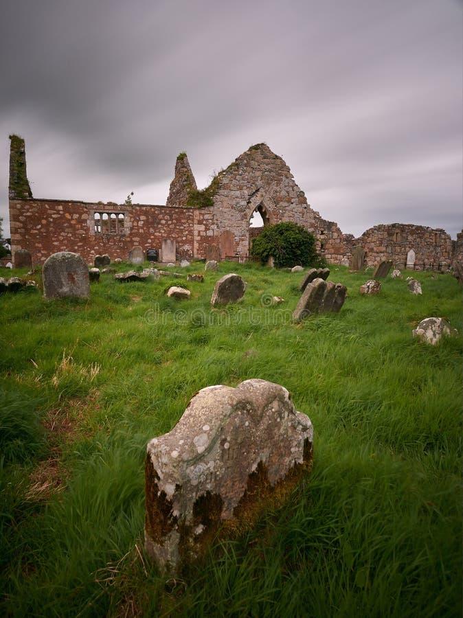 Mosteiro de Bonamargy em Antrim, Irlanda do Norte imagem de stock