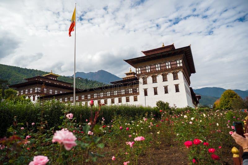 Mosteiro de Dzong na montanha do Himalaia Butão foto de stock