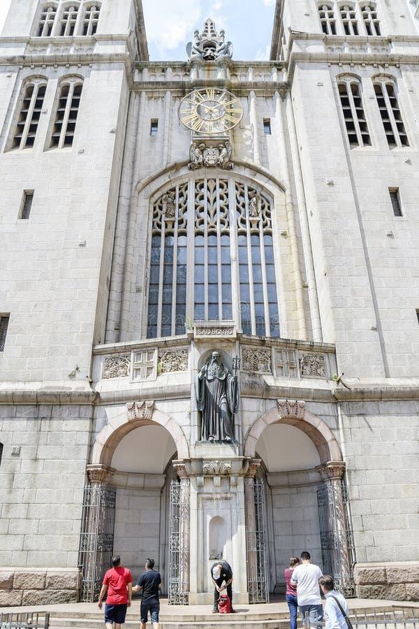 Mosteiro de São Bento, Sao Paulo fotografering för bildbyråer
