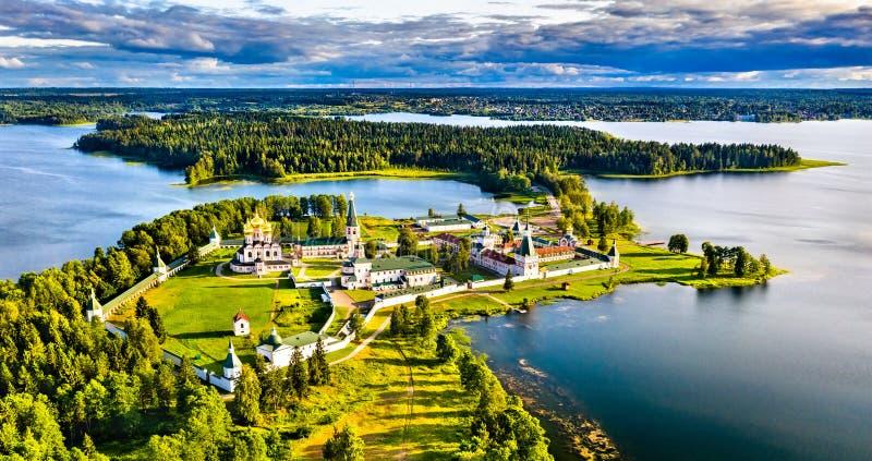 Mosteiro de Valday Iversky na Rússia foto de stock royalty free