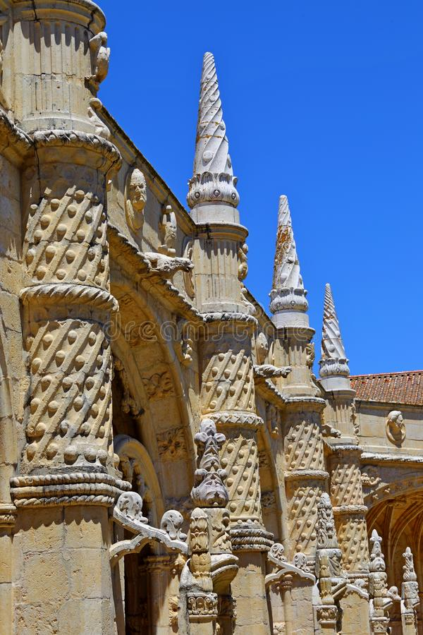 Mosteiro dos Jeronimos in Belem in Lisbon, historic monastery in Portugal UNESCO World Heritage. Site stock photography