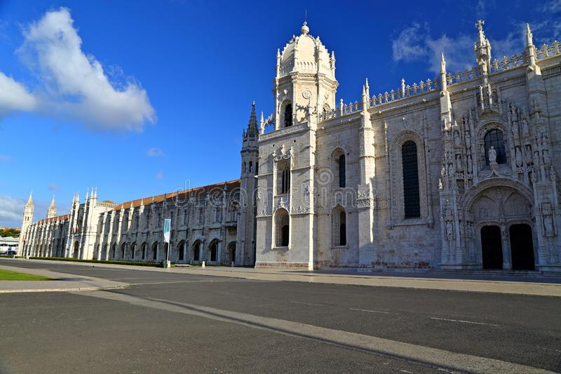 Mosteiro dos Jeronimos in Belem in Lisbon, historic monastery in Portugal UNESCO World Heritage. Site royalty free stock image