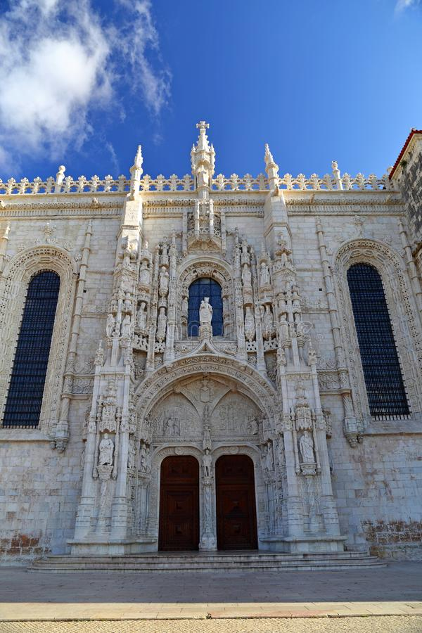 Mosteiro dos Jeronimos in Belem in Lisbon, historic monastery in Portugal UNESCO World Heritage. Site stock images