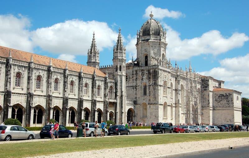 Mosteiro DOS Jeronimos (den Hieronymites kloster) royaltyfria bilder