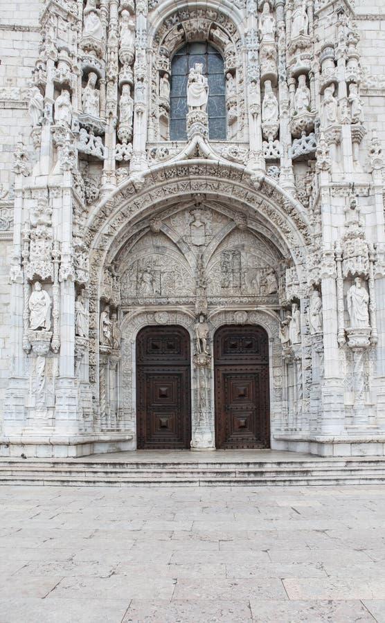 Mosteiro DOS Jeronimos i Lissabon fotografering för bildbyråer