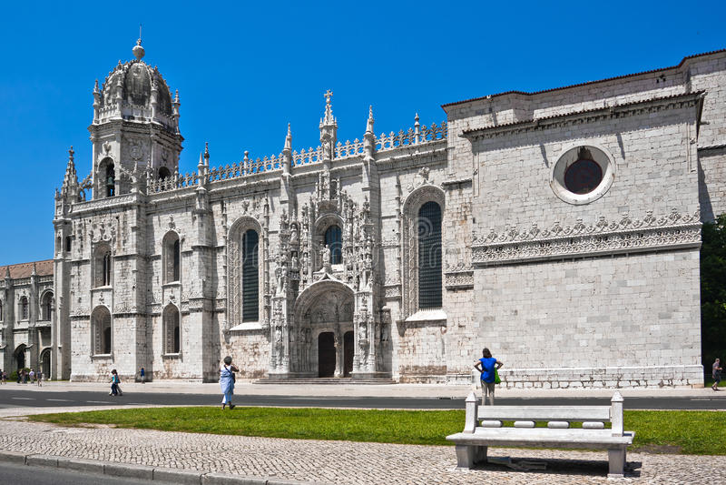 Mosteiro DOS Jeronimos, Lisbon, Portu arkivfoton