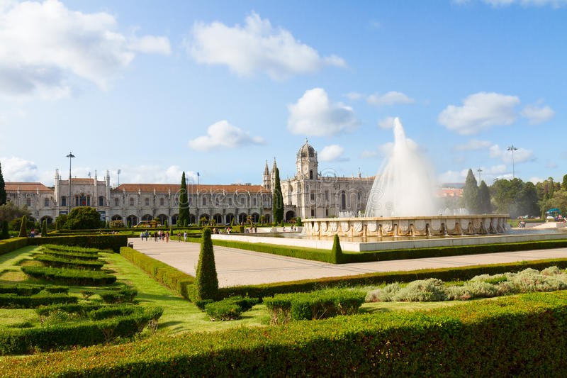 Mosteiro dos Jeronimos in Lisbon, Portugal stock images