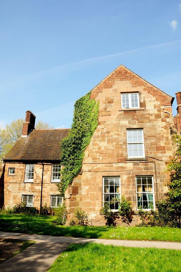 Mosteiro Franciscan, casa dos bispos, Lichfield fotos de stock
