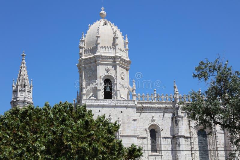 Mosteirodos Jeronimos in Lissabon portugal stock afbeeldingen