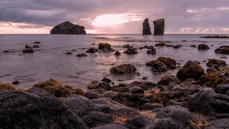 Mosteiros on the island of Sao Miguel in the Azores, Portugal royalty free stock images