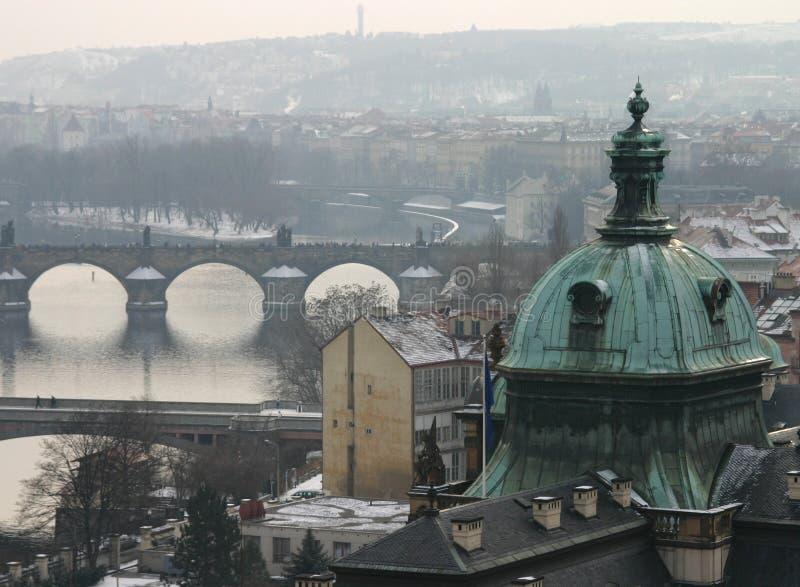 mostek jest Prague zdjęcie royalty free