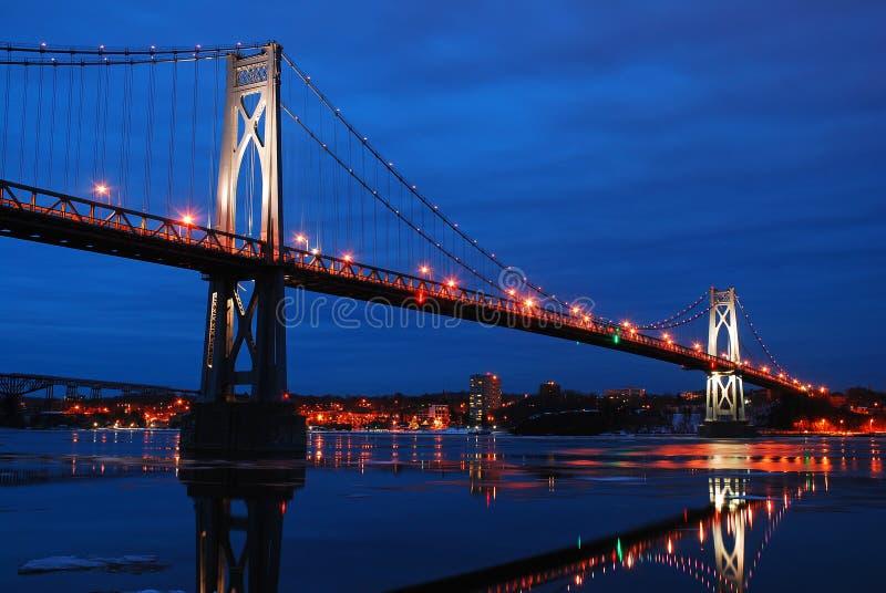 Mostek Mid Hudson koÅ'o Poughkeepsie, Nowy Jork zdjęcie royalty free