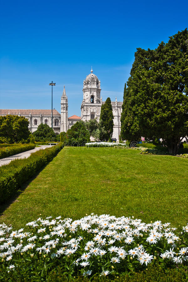 Mosterio DOS Jeronimos, Lisbon, Portugal royaltyfri fotografi