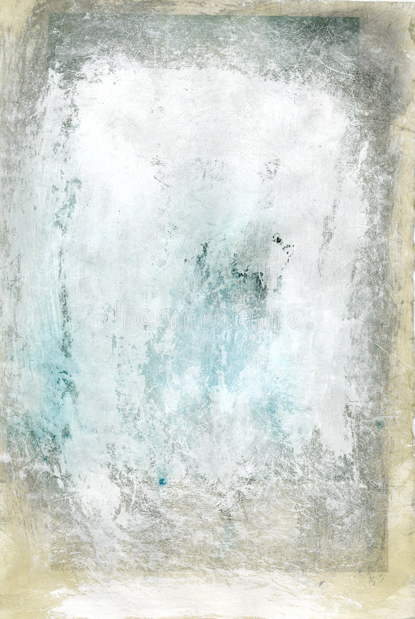 Mostly White Textural Abstract Painting  stock illustration