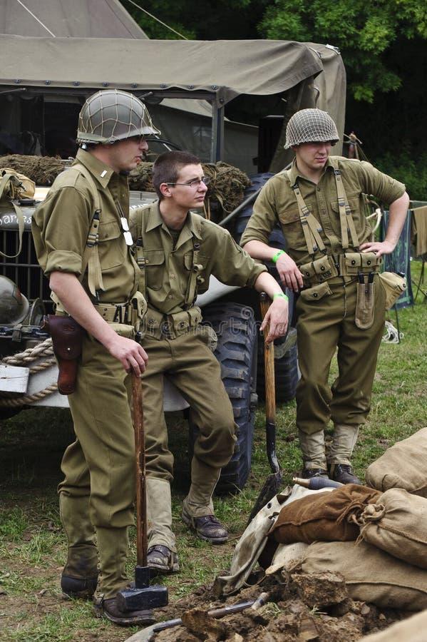 Mostra 2011 da guerra e da paz imagens de stock royalty free