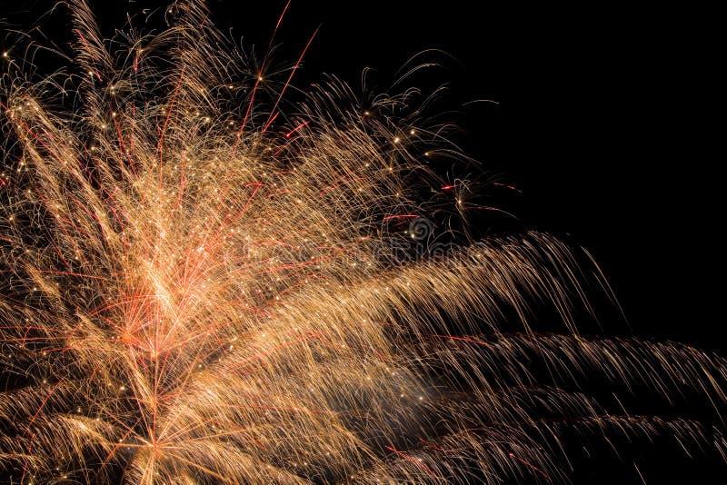 Mostra aérea dos fogos-de-artifício fotos de stock