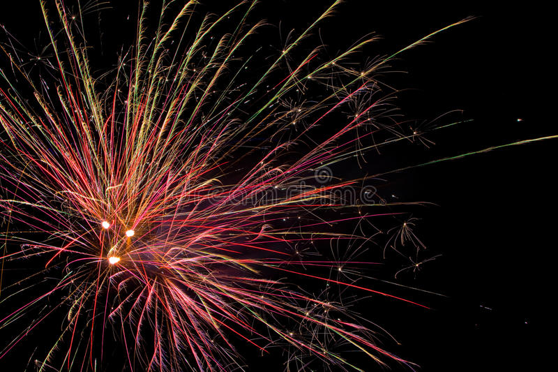 Mostra aérea dos fogos-de-artifício fotos de stock royalty free