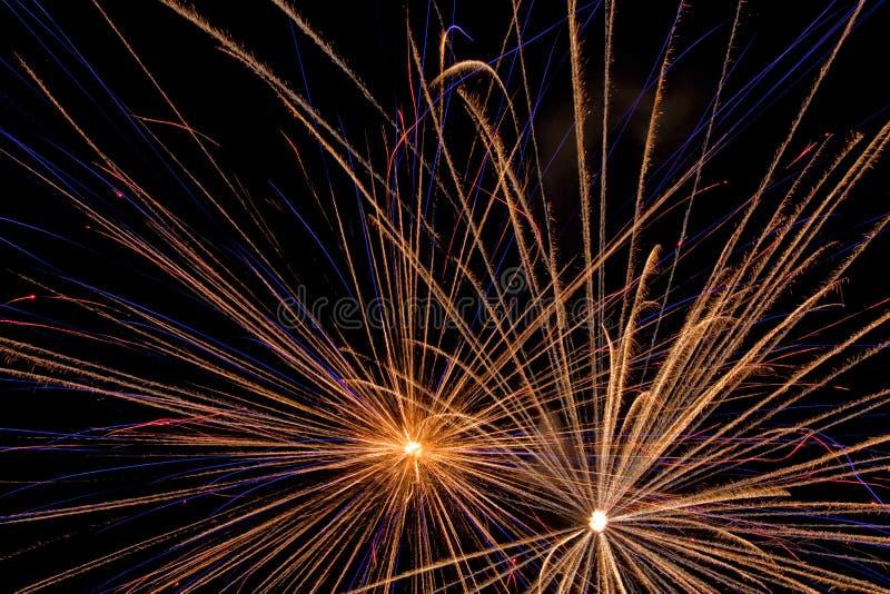 Mostra aérea dos fogos-de-artifício imagens de stock royalty free
