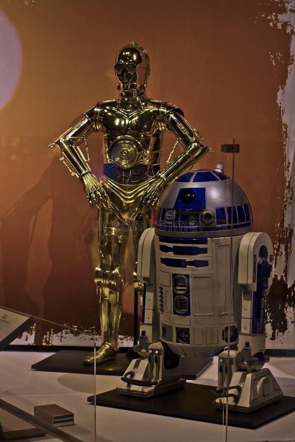 Mostra C3PO & R2D2 di Starwars immagini stock